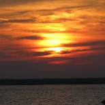 Sunset over Barnegat Bay at HCBC